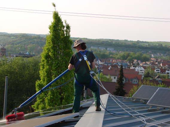 Photovotaikreinigung mit Reinigunssets von Solarreinigung Franken