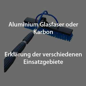 mit Teleskopstangen von Solarreinigung Franken Solaranlagen schnell und effektiv reinigen